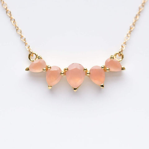 Sunny Pink Chalcedony Necklace
