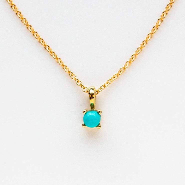 14K Gold Filled Element Necklace necklaces Leah Alexandra Turquoise