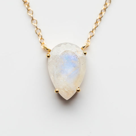 Asana Moonstone Necklace - necklaces - Leah Alexandra local eclectic