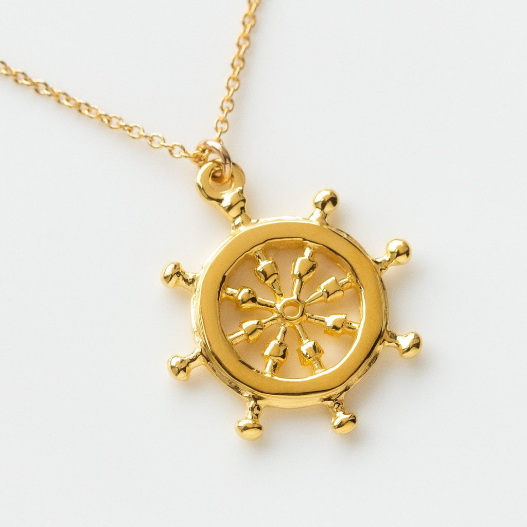yellow gold sailor necklace unique nautical jewelry