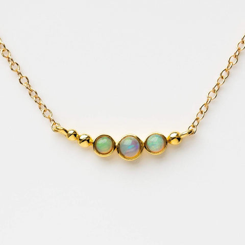 opal astro necklace unique yellow gold jewelry