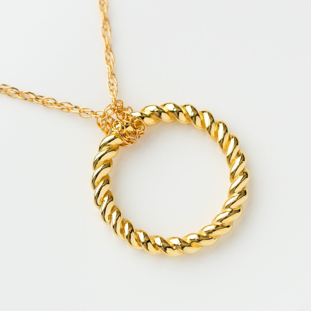 rope necklace pendant unique yellow gold jewelry