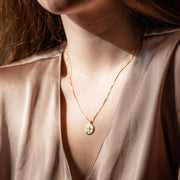 st. christopher necklace unique yellow gold necklace pendant