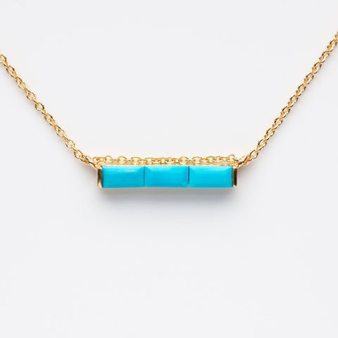 Turquoise Channel Necklace