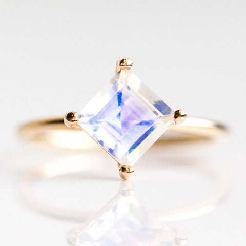 14K Princess Moonstone Ring - rings - Liesel Love local eclectic