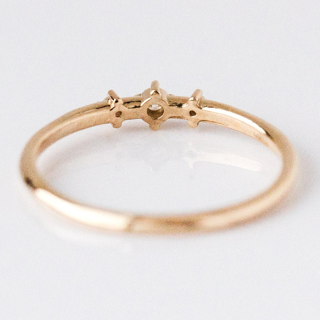 Tiny Triple Diamond Ring - rings - Liesel Love local eclectic