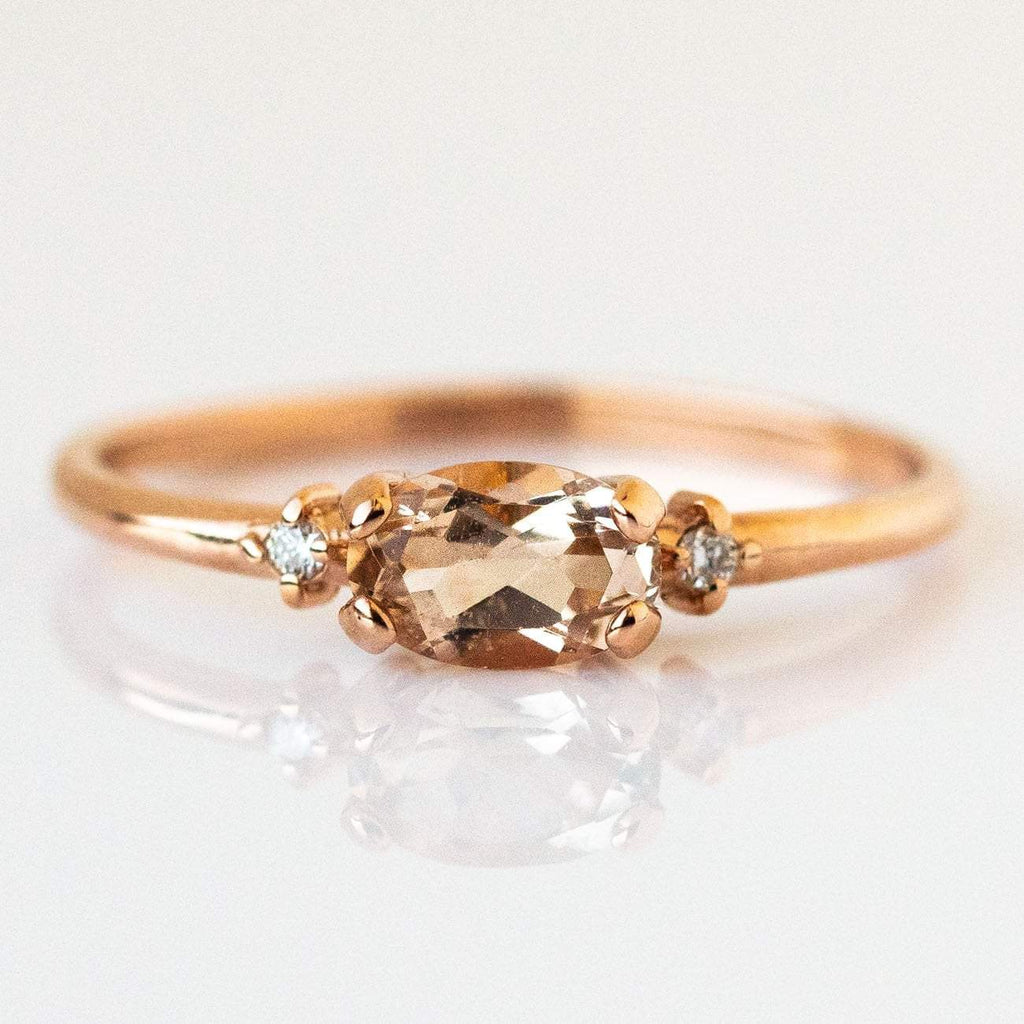 East & West Morganite Ring