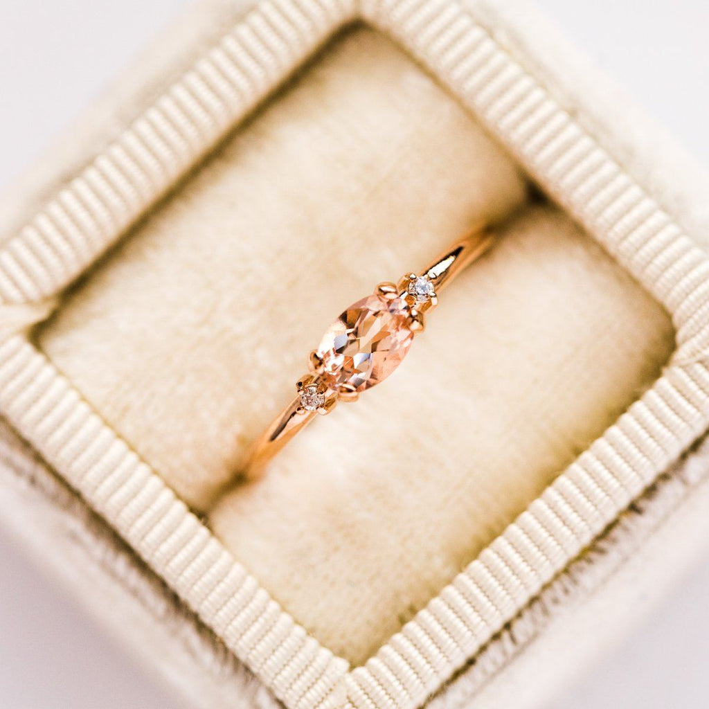 East & West Morganite Ring - rings - Liesel Love local eclectic