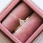 Triangle Diamond Ring in Yellow Gold - rings - Liesel Love local eclectic