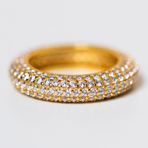 micro pave eternity band unique statement ring