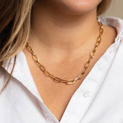 Taia Chain Necklace unique chunky yellow gold necklace livie jewelry