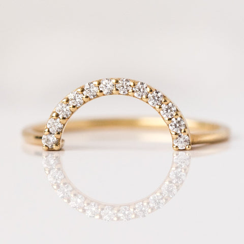 Ultimate Diamond Arc Ring - rings - La Kaiser local eclectic