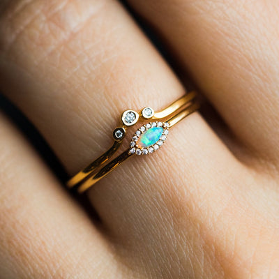 Opal Eye Stacking Set - rings - La Kaiser local eclectic