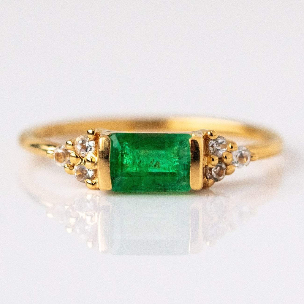 Gold Emerald Stacking Ring Exclusive Design