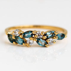 London Blue Topaz and Diamond Orchard Ring