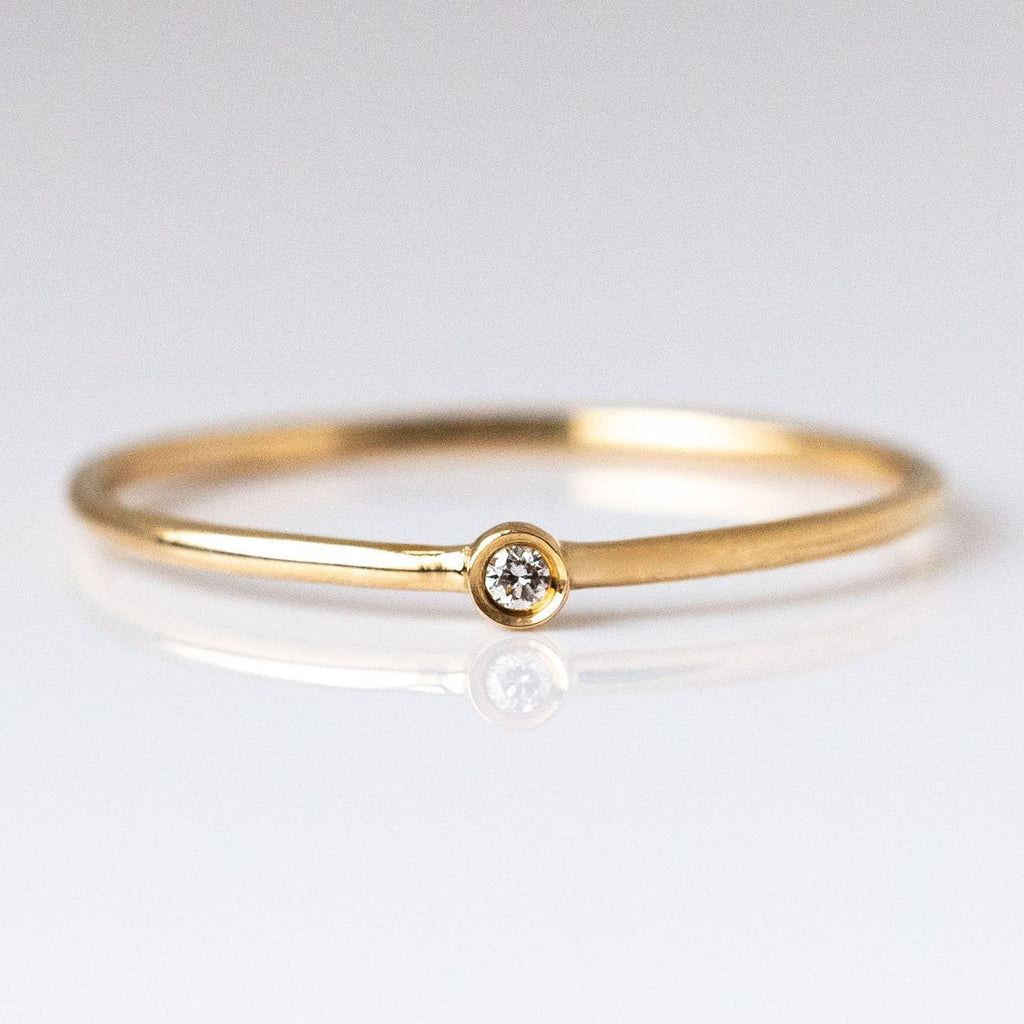 Local Eclectic - 14K Gold Solo Diamond Ring - Rings - La Kaiser