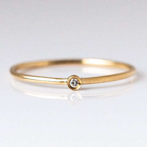 14K Gold Solo Diamond Ring