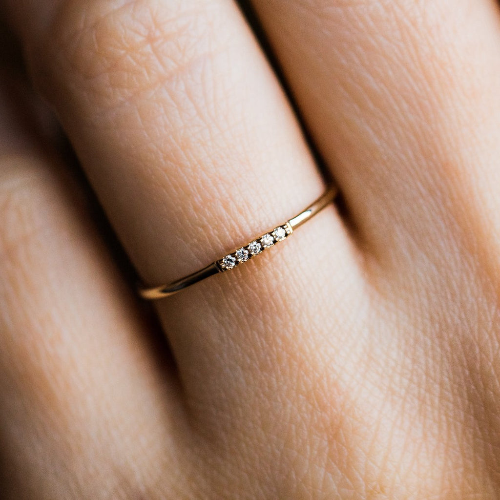 Yellow Gold Diamond Alinea Ring - rings - La Kaiser local eclectic