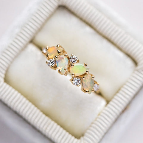 14K Opal & Diamond Woodland Fairytale Ring