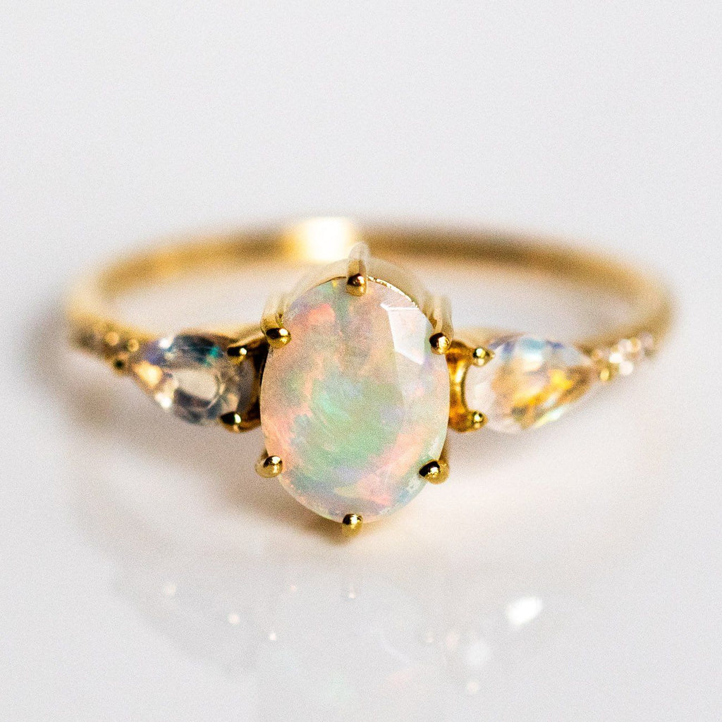ArenaElite Victorian Style Unique MoonStone Ring for Women and Girls,gave in gift or for self wearing
