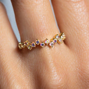 Opalescent Topaz Breeze Ring dainty yellow gold jewelry