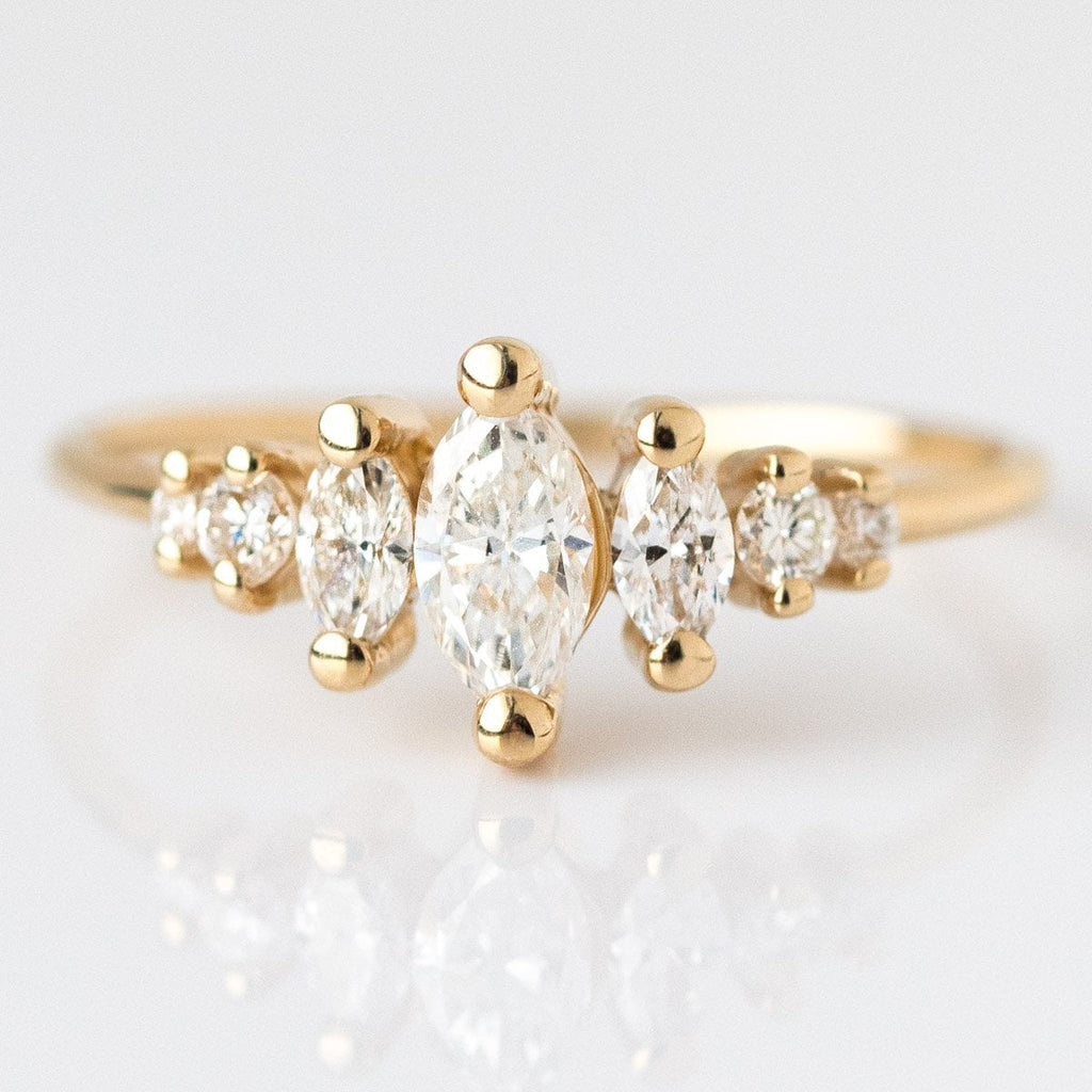 Local Eclectic - 14K Gold Diamond Ring - Marquise Cut - La Kaiser