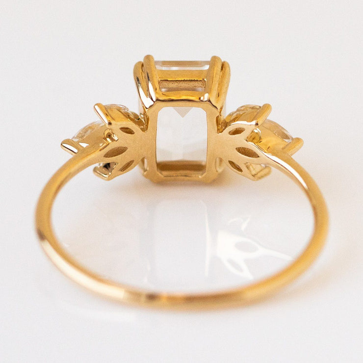 10k Topaz Enchanted Dream Ring unique solid yellow gold fine statement jewelry
