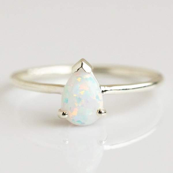 Opal & Pink Diamond Exotic Sunrise Stacking Ring Set rings La Kaiser