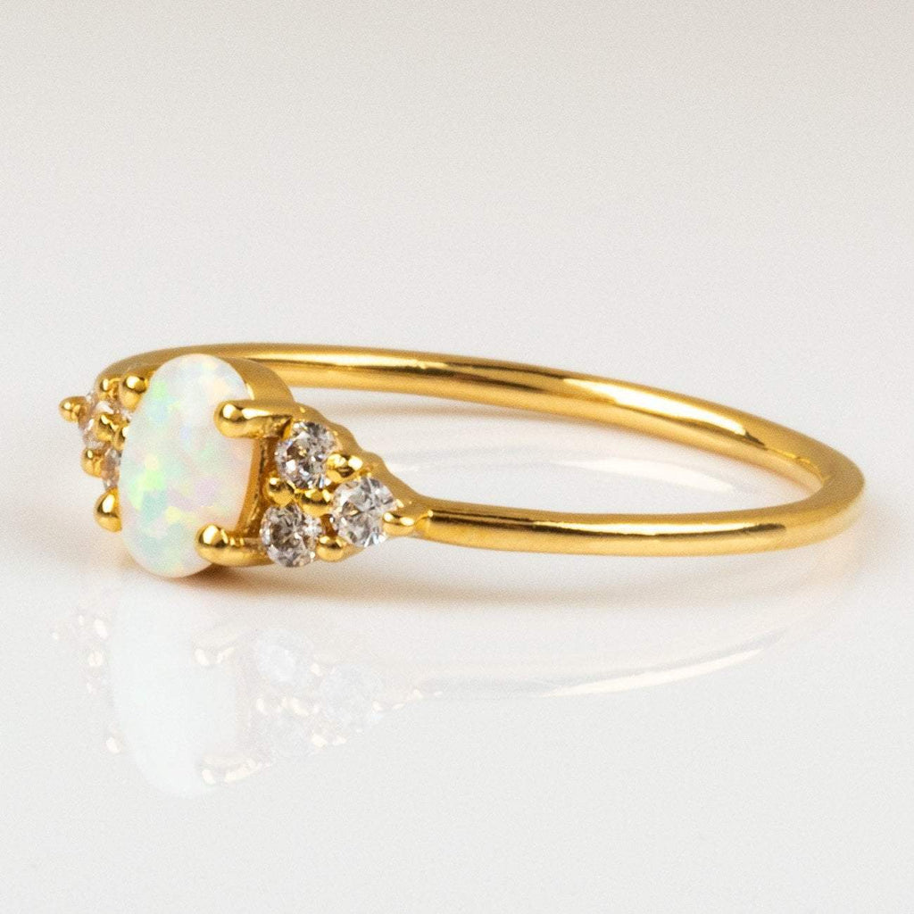 Local Eclectic - Mini Opal & Diamond Abella Ring - La Kaiser