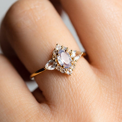 Local Eclectic - 18K Yellow Gold Lilac Quartz & Topaz Delila Ring - La Kaiser
