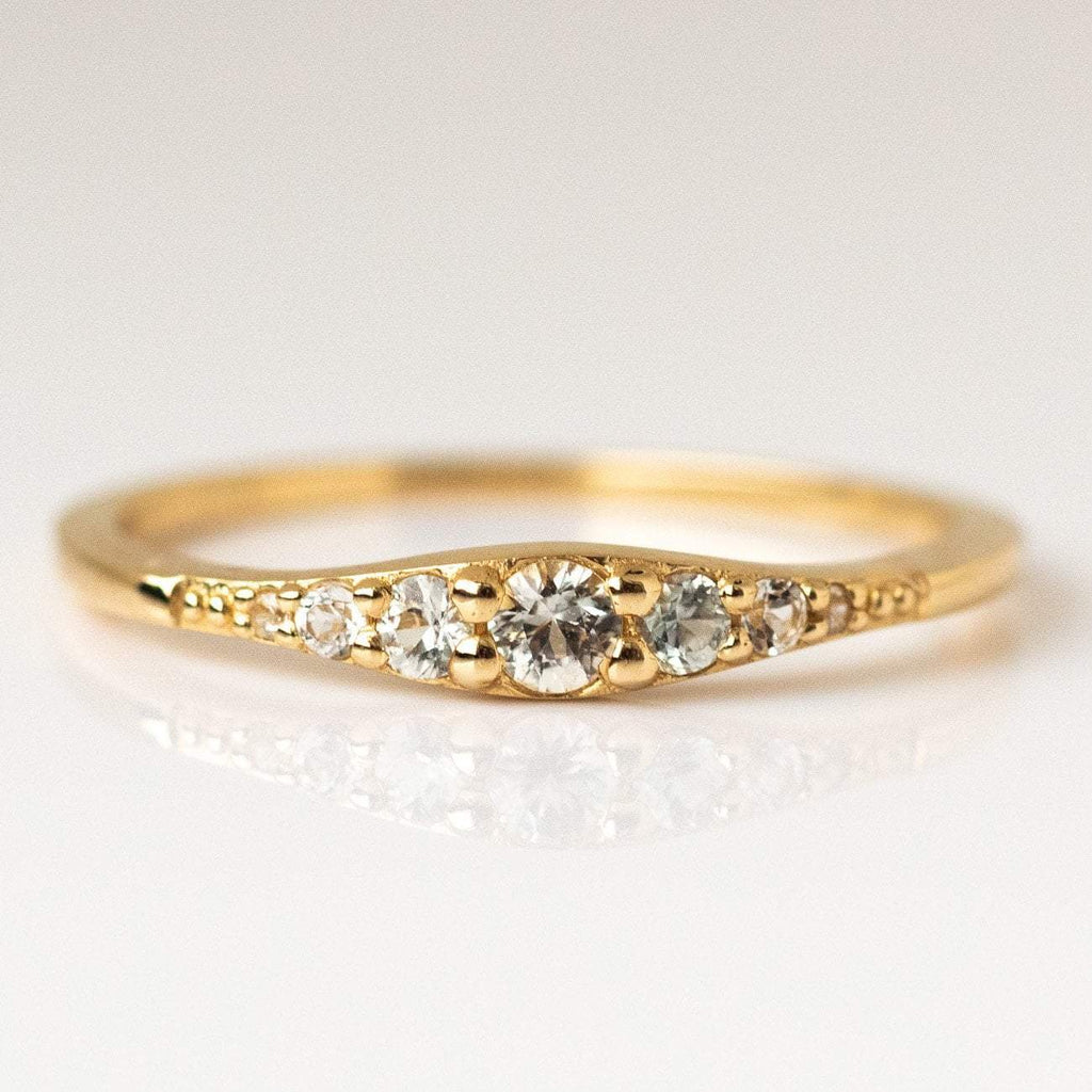 Local Eclectic - 14K Yellow Gold White Sapphire Ella Ring - La Kaiser