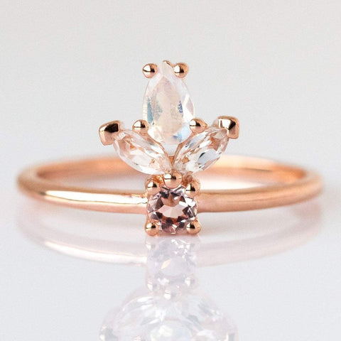Rose Gold & Moonstone La Viva Ring