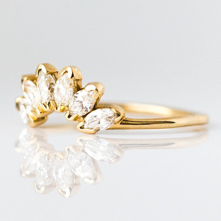 Diamond Caribbean Sunrise Ring in Yellow Gold - rings - La Kaiser local eclectic