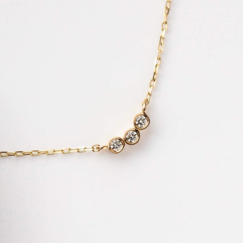 14K Gold Diamond Trio Pendant