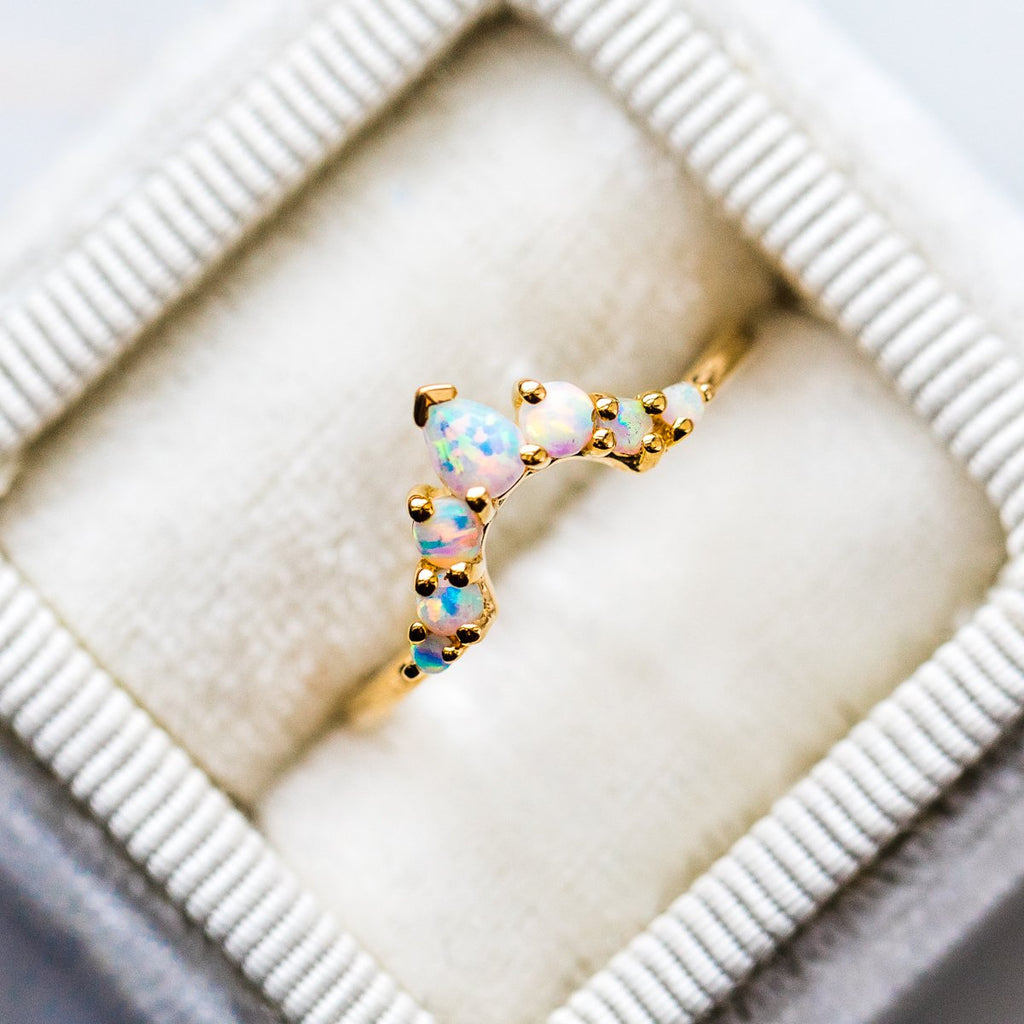 Opal Angels Arc Ring - rings - La Kaiser local eclectic
