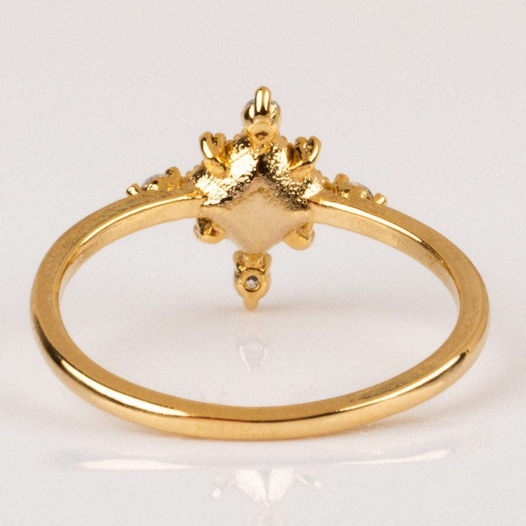 Exclusive Lovers Tempo 14K Gold Plated Sierra Statement Ring in Aqua