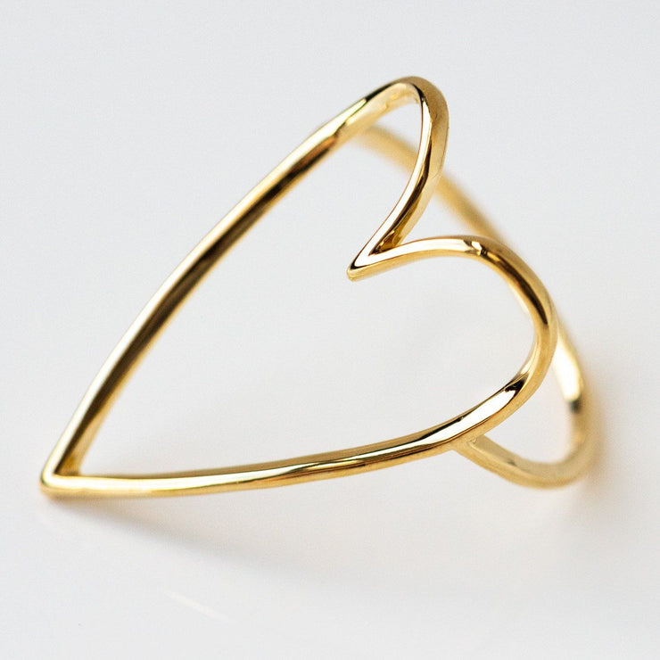 lovestruck ring yellow gold modern dainty heart shaped statement jewelry