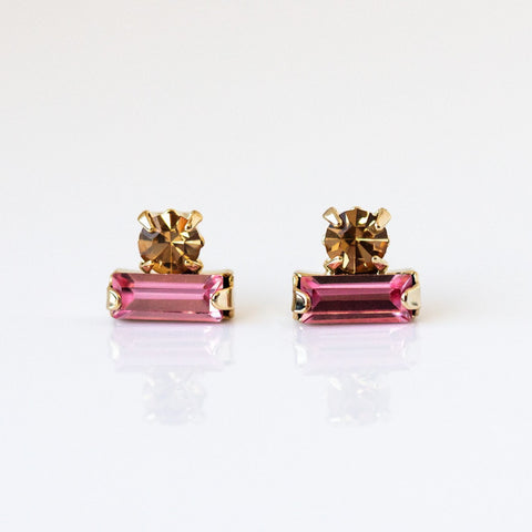 Bon Bon Stud Earrings in Rose