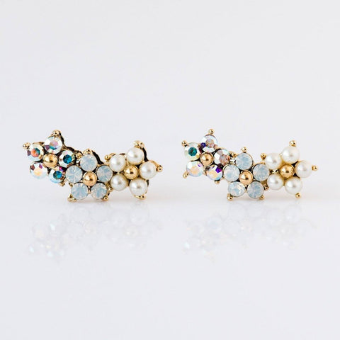 Floral Ear Climbers - earrings - Lover's Tempo local eclectic