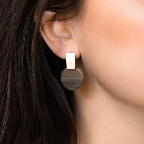 Jupiter Drop Earrings in Hunter