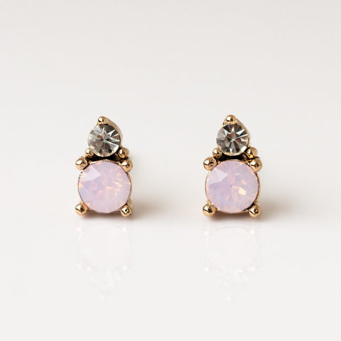 Dolce Stud Earrings in Pink Opal