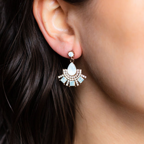 Allegro Fan Drop Opal Earrings