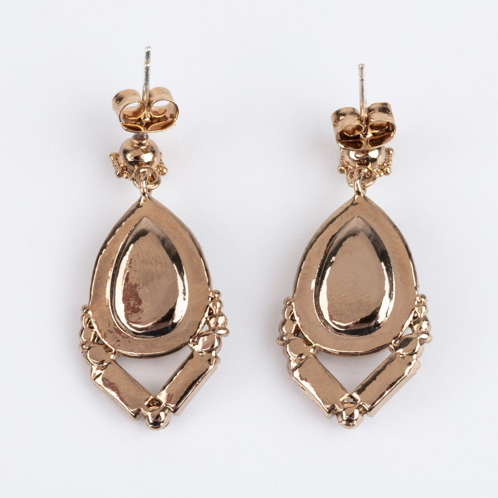 Nadia Drop Earrings with Swarovski Crystals