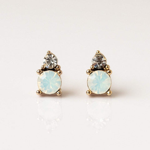 Dolce Studs in White Opal