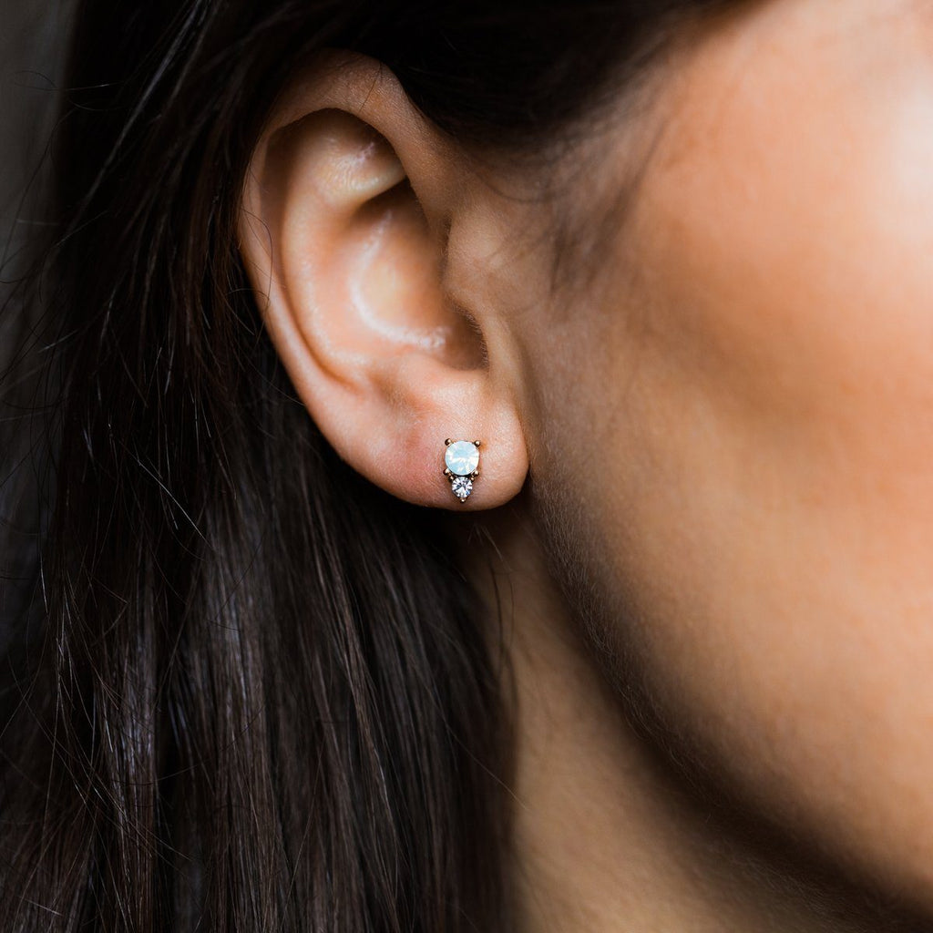 Dolce Studs in White Opal - earrings - Lover's Tempo local eclectic