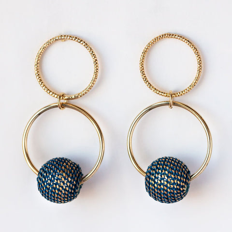 Countdown Drop Earrings in Blue