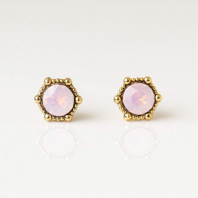 Astrid Stud Earrings in Pink Opal earrings Lover's Tempo