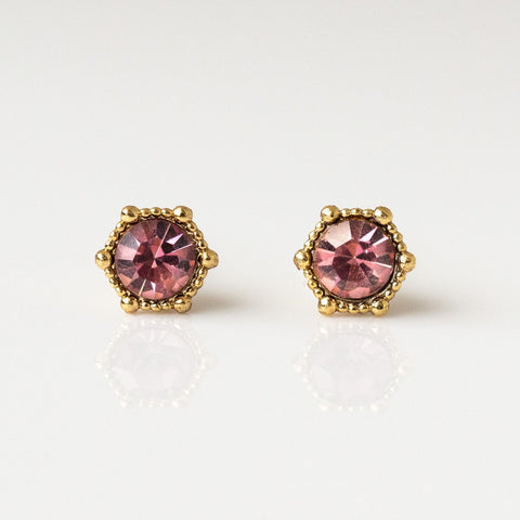 Astrid Stud Earrings in Light Amethyst