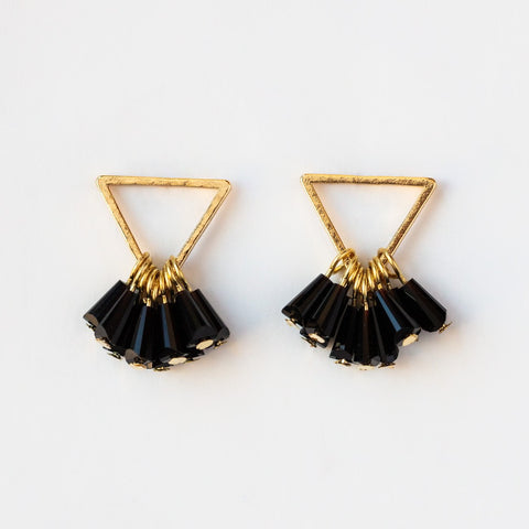 Confetti Triangle Earrings in Black