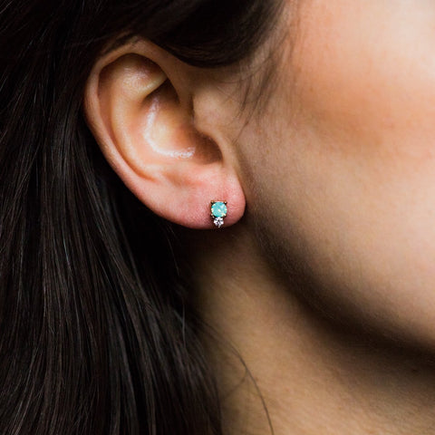 Dolce Studs in Pacific Opal